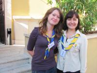 Катя и Алина - представительнцы АГУ